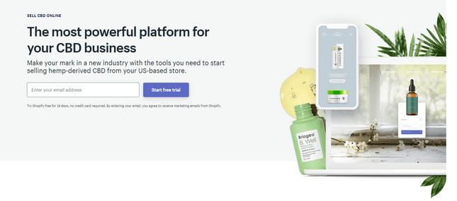 shopify cbd ecommerce platform