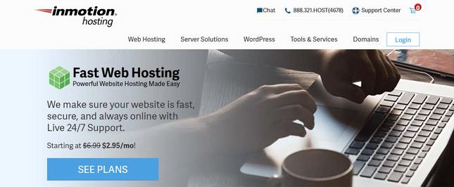 inmotion homepage screenshot