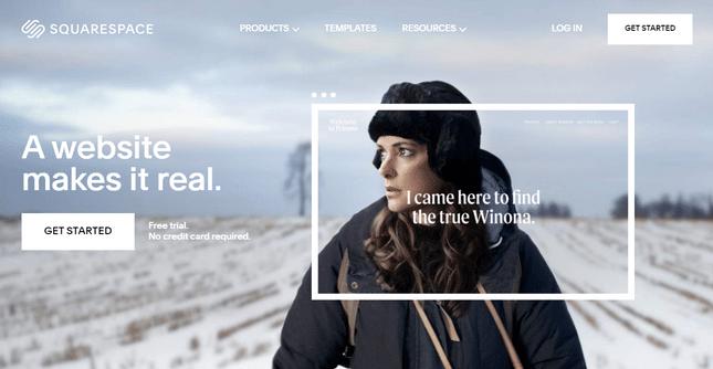 squarespace website builder homepage