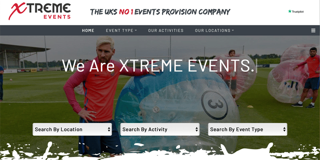 xtreme events homepage