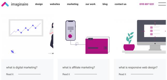 imaginaire blog page