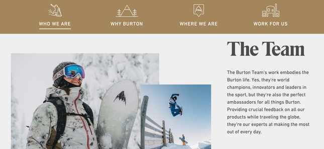 about us page example