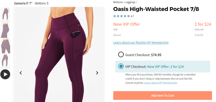 best product pages fabletics