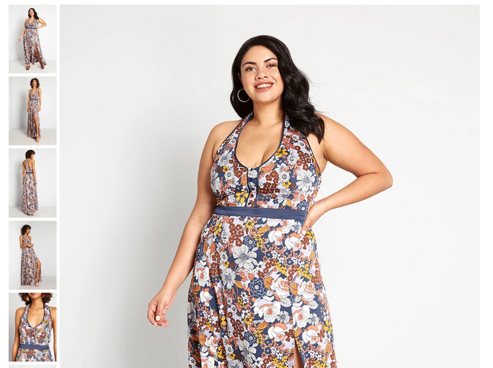 how to design a product page modcloth product photo