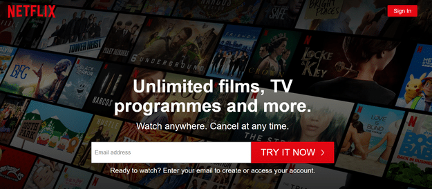 how to write a call to action netlflix button color