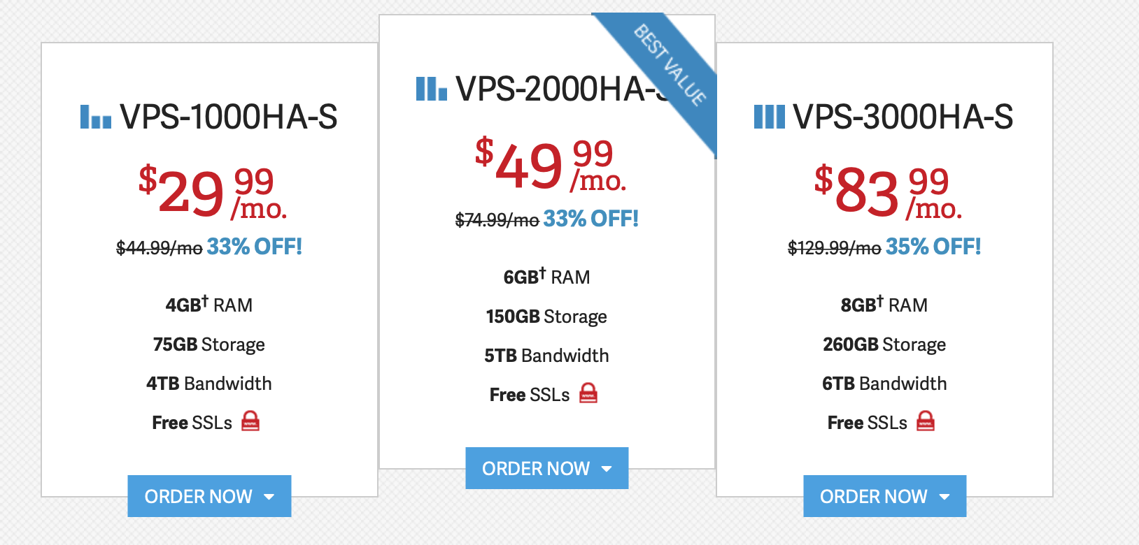 inmotion vps plans