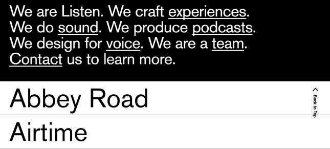 we are listen font example building online portfolio