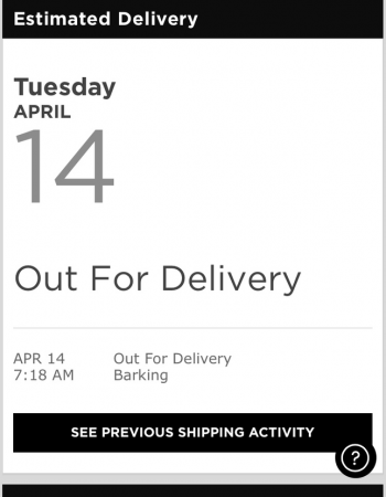 shipping products order tracking example