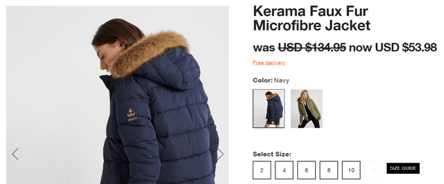 shipping products superdry free shipping product page