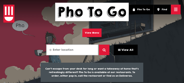 restaurant website and third party app ordering system pho to go example