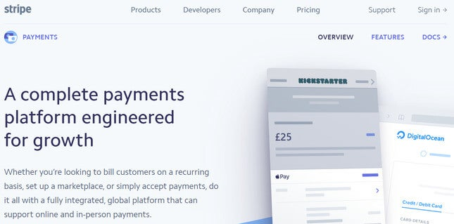 how to accept payments online stripe