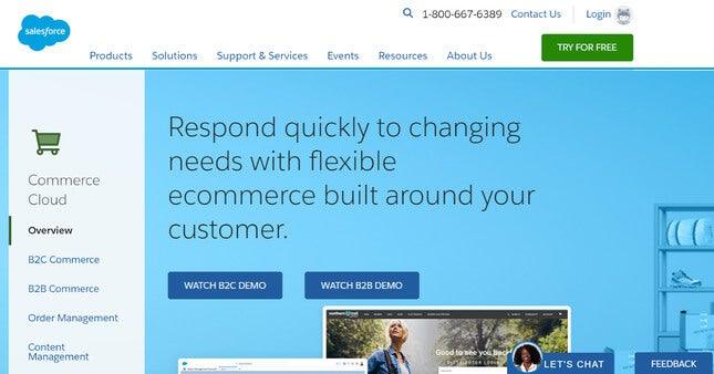 salesforce commerce cloud enterprise ecommerce platforms