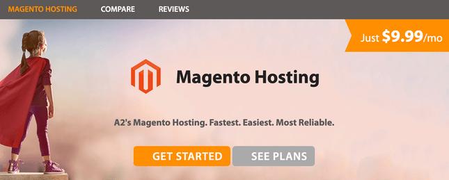 a2 hosting magento home