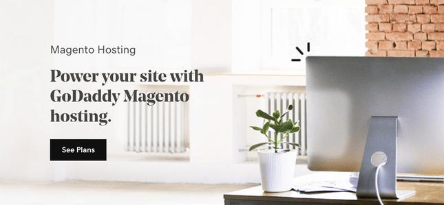 godaddy hosting magento home