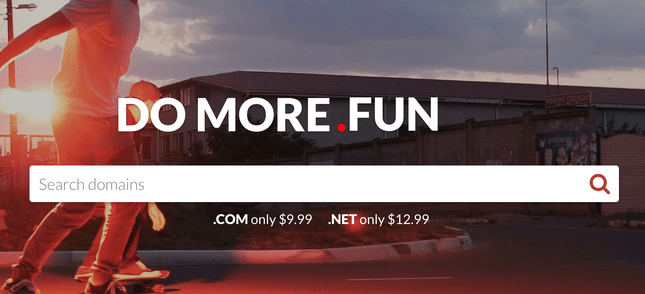 domain com homepage