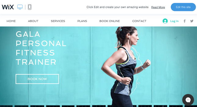 wix fitness home