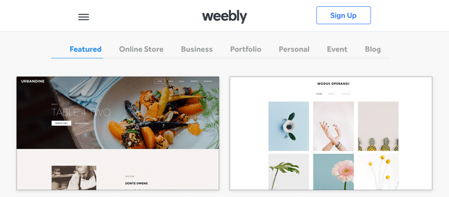 weebly fitness home