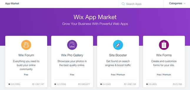 wix app market home