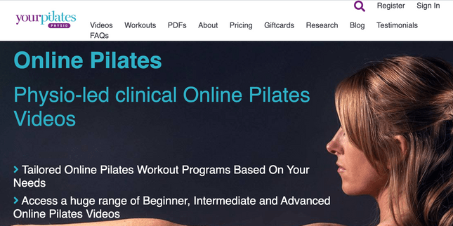 pilates website example