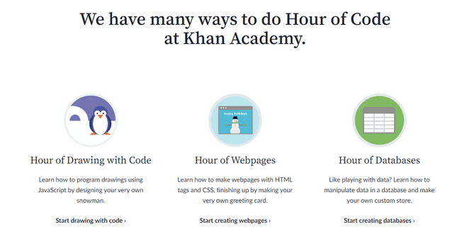 hour of code khan academy coding course