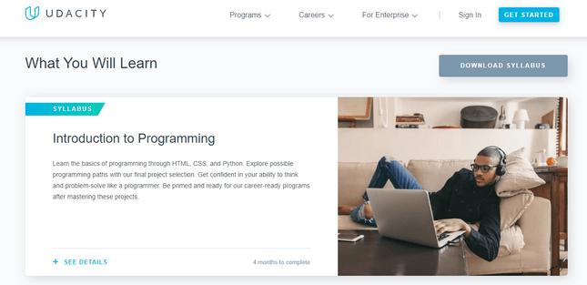 udacity online coding courses