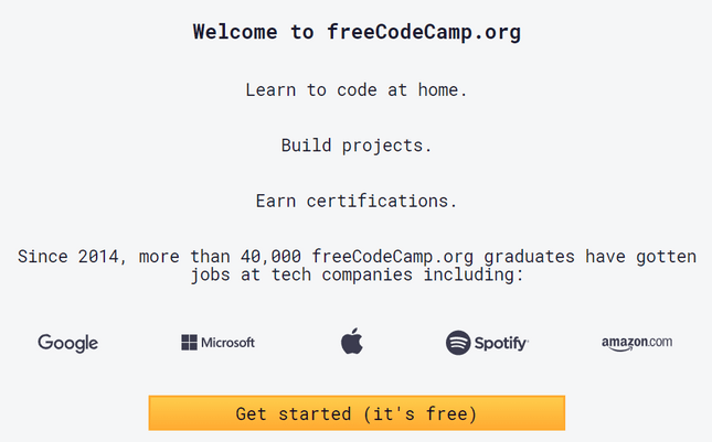 freecodecamp best online coding courses