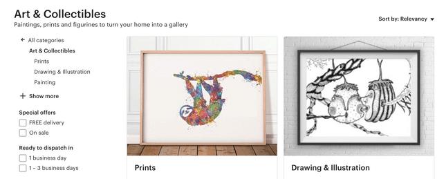 etsy selling art