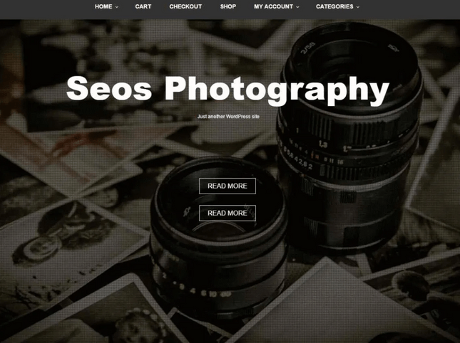 seos photography wordpress template