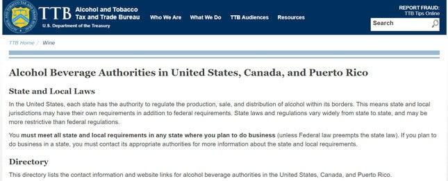 sell alcohol online ttb website