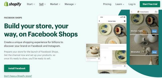 start selling alcohol online shopify facebook shops