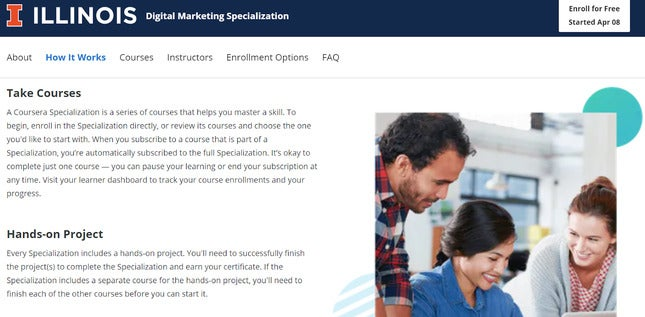 coursera digital marketing course
