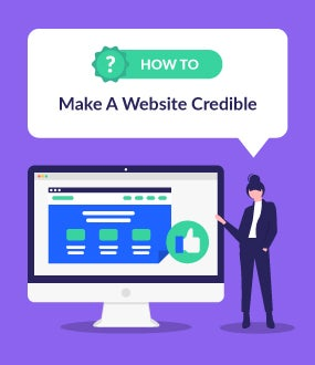 how to make a website credible
