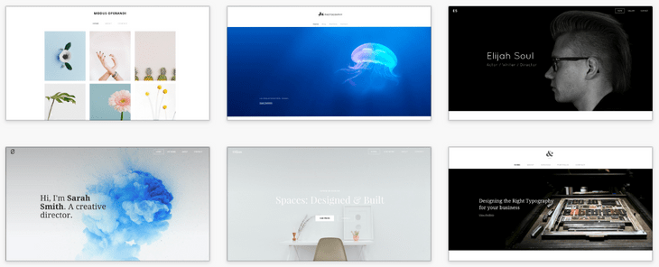 weebly review portfolio themes