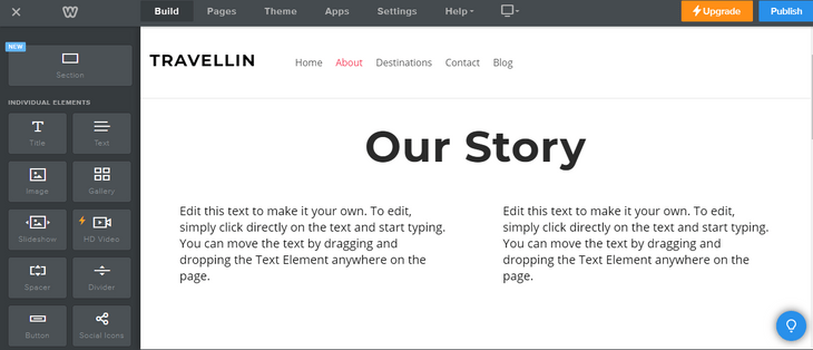 weebly review customization edit text