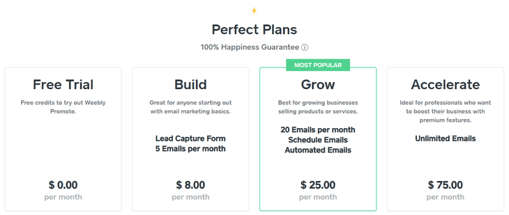weebly promote pricing weebly review