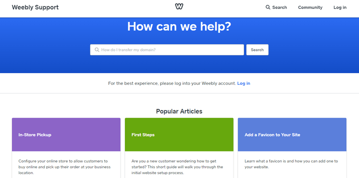 weebly review help center