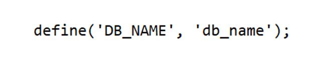 database name code