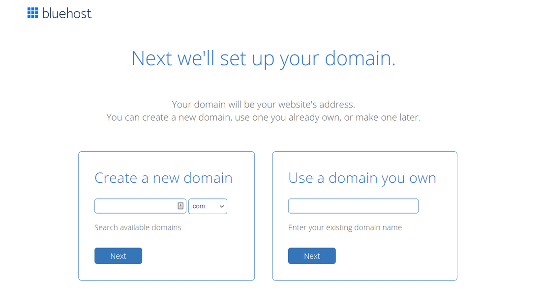 building multi language site bluehost domain signup