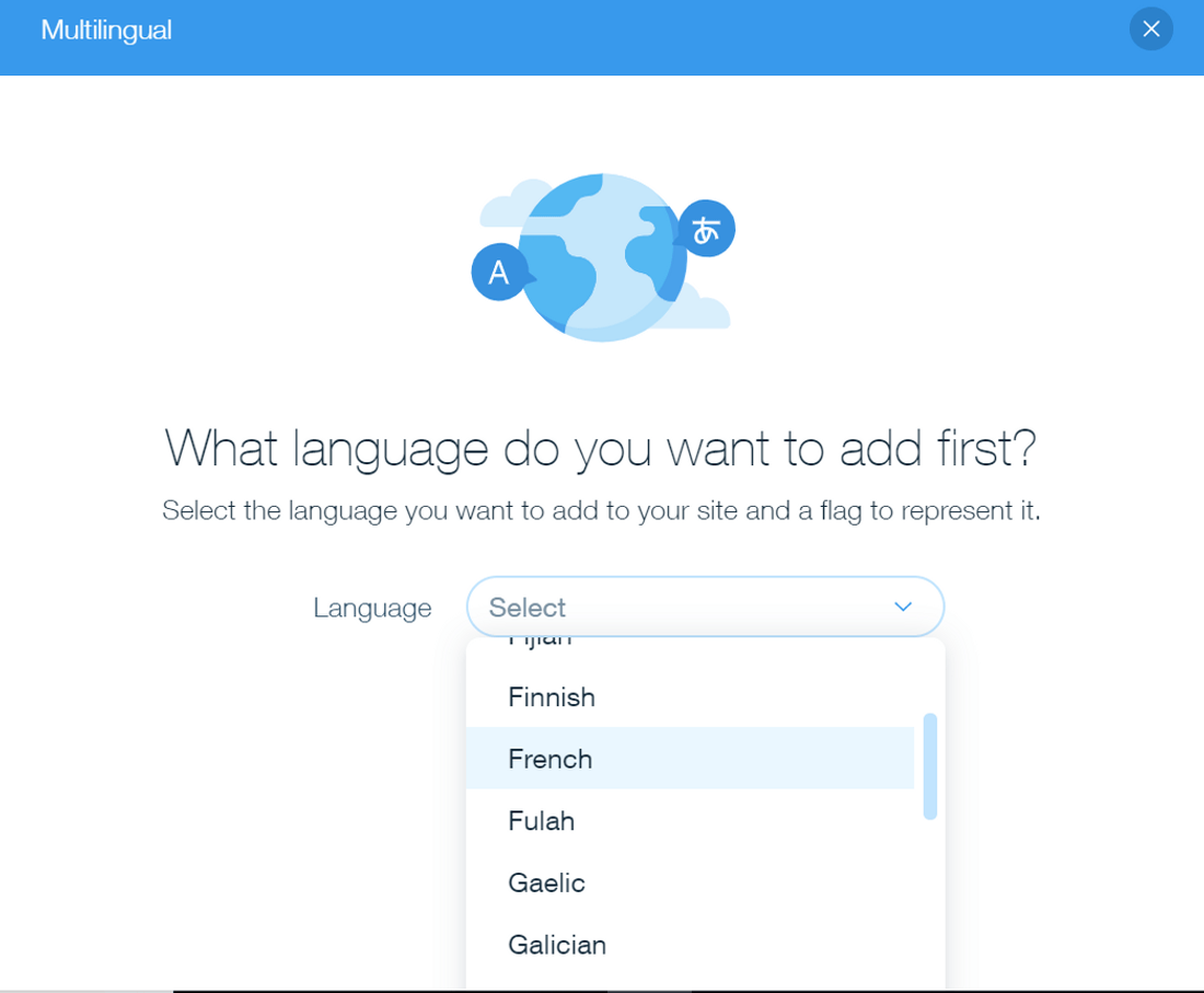 wix multilingual second language