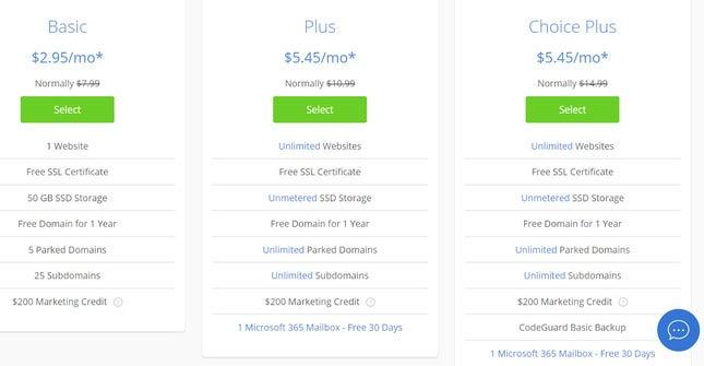 create a business website using bluehost