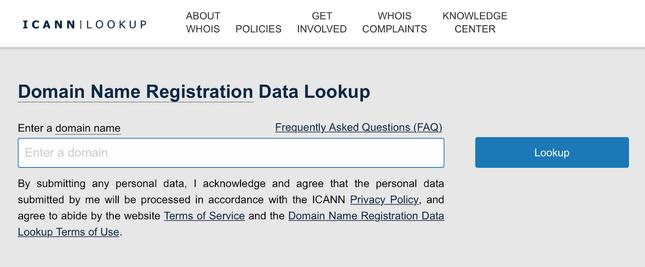 domain registration data lookup