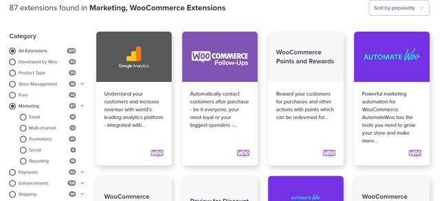 bigcommerce vs woocommerce marketing apps