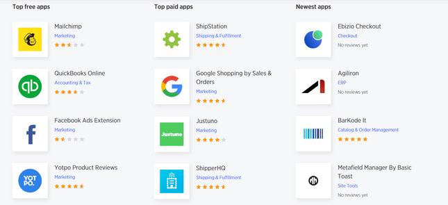 woocommerce vs bigcommerce top apps
