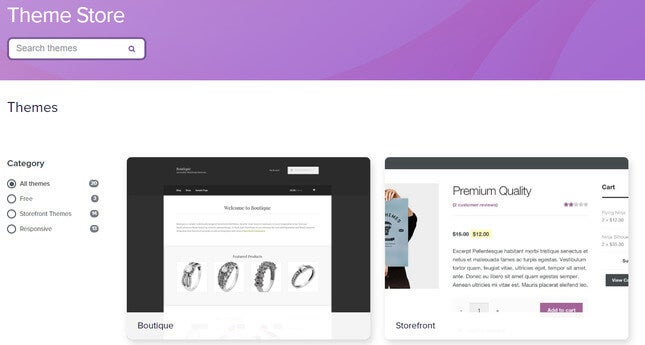 woocommerce reviews theme store