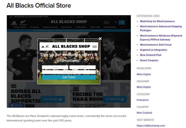 woocommerce example all blacks