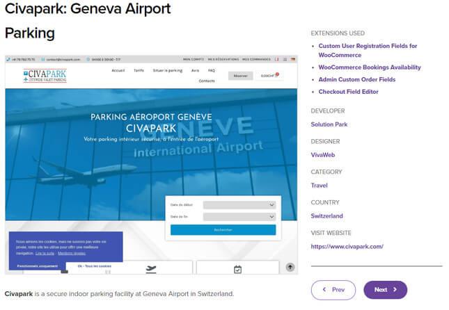 woocommerce example geneva airport