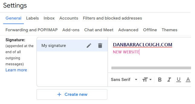 market your website with a new email signature