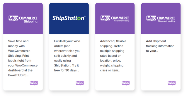 woocommerce shipping extensions library