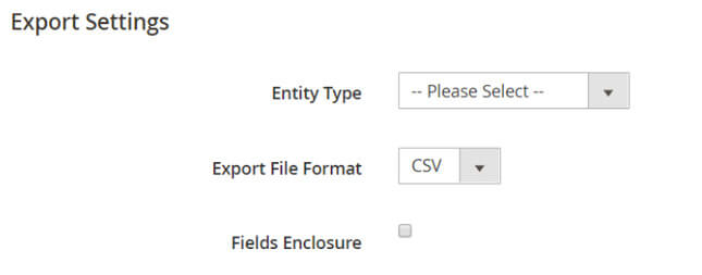 exporting data on magento