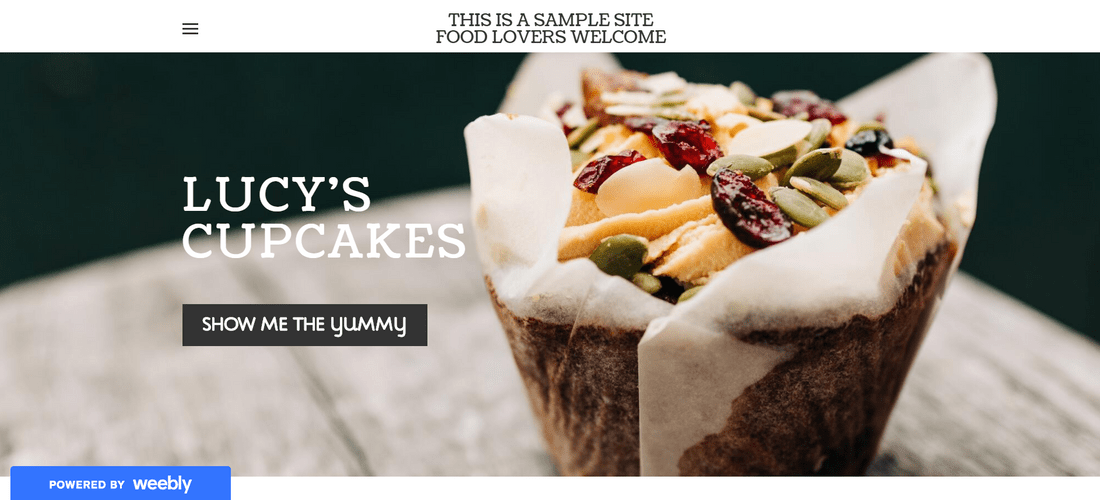 weebly free demo website lucys cupcakes